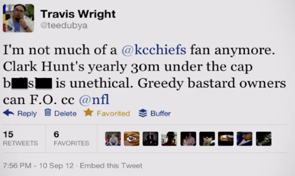 Travis Wright tweet