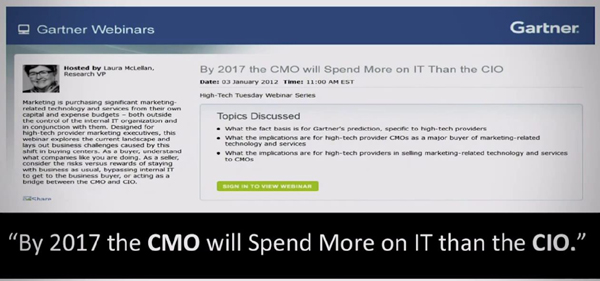 Gartner - CMO spend more than CIO