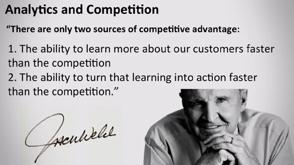 Jack Welch quote competitive advantage